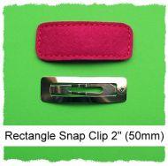 *SINGLE* 50mm Rectangle Snap Clip Cover Felt Stitchies