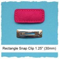 30mm Mini Rectangle Snap Clip Cover Felt Stitchies