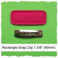 *SINGLE* 40mm Rectangle Snap Clip Cover Felt Stitchies