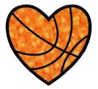 Heart Basketball Applique