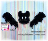 Bat Set Oversized Bow Parts Feltie