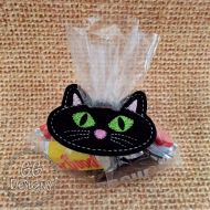 Black Cat Treat Bag Topper