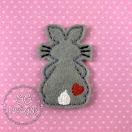 Bunny with Heart Felt Stitchies