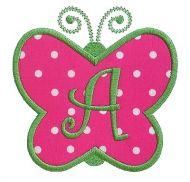Butterfly Applique Monogram Alphabet