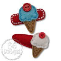 Button Icecream Felt Stitchies