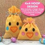 Chicken Treat Bag 4x4 hoop