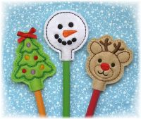 Christmas Pencil Toppers Set 1
