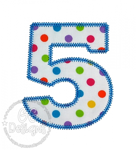 Chubby Wubby Applique Numbers