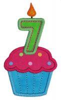 Cupcake Seven Applique