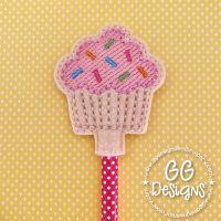 Sprinkles Cupcake Pencil Topper