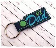 No 1 Dad Mini Snap Tab Key Fob