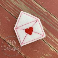 Envelope Heart Felt Stitchies
