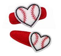 Heart Baseball Felt Stitchies