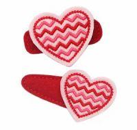Chevron Heart Felt Stitchies