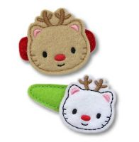 Kitty Reindeer Felt Stitchies