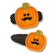 Mustache Pumpkin Felt Stitchies