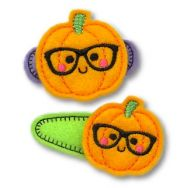 Nerd Pumpkin Felt Stitchies
