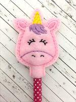 Unicorn Head Pencil Topper