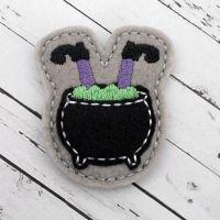 Witch in Pot Felt Stitchies