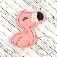 Flamingo Felt Stitchies