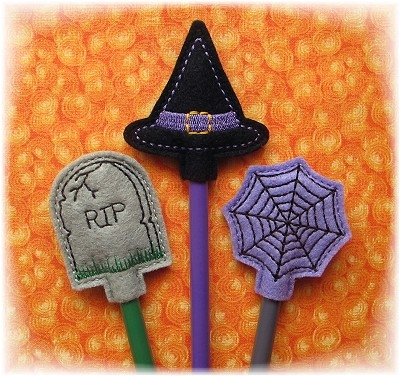 Halloween Pencil Toppers Set 2