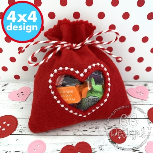 Heart Treat Bag 4x4