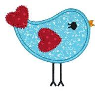 Heart Birdie Applique