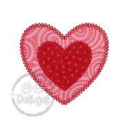 FREE Vintage Double Heart Applique