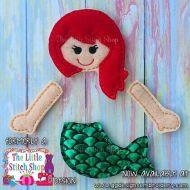 Mermaid Set Oversized Bow Parts Feltie