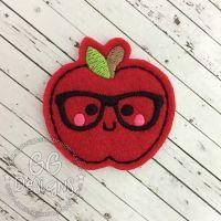 Nerd Apple Felt Stitchies