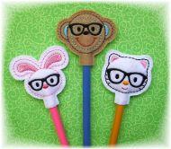 Nerd Critters Pencil Toppers