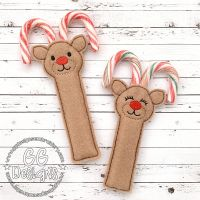 Reindeer Candy Cane Holder