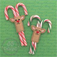 Reindeer Candy Cane Slider