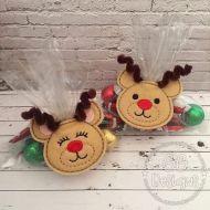Reindeer Treat Bag Topper