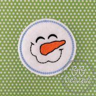 Happy Snowman Felt Stitchies