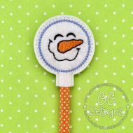 Happy Snowman Pencil Topper