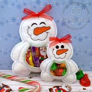 Snowman Peekaboo Treat Bag