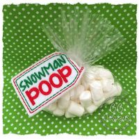 Snowman Poop Treat Bag Topper