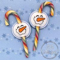 Happy Snowman Candy Cane Slider