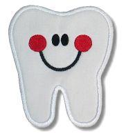 Happy Tooth Applique