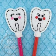 Boy and Girl Tooth Pencil Topper
