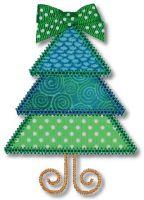 Triangle Christmas Tree Applique