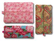5x7 Quilted Zippered Pouch Set