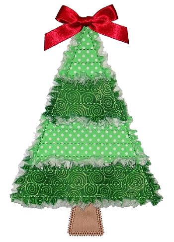 Rag It Up Piece Christmas Tree Applique Gg Designs